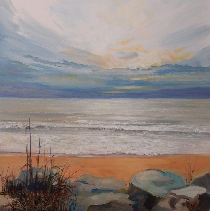 Lonely Beach - Joy Parks Coats Art