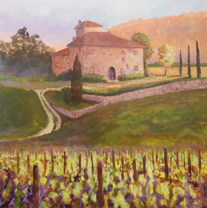 Tuscan Vineyard - Joy Parks Coats Art