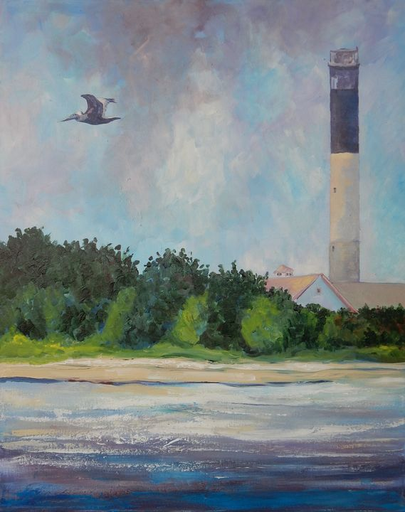 Oak Island Light - Joy Parks Coats Art