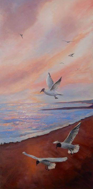 Gulls Just Wanna Have Fun! - Joy Parks Coats Art