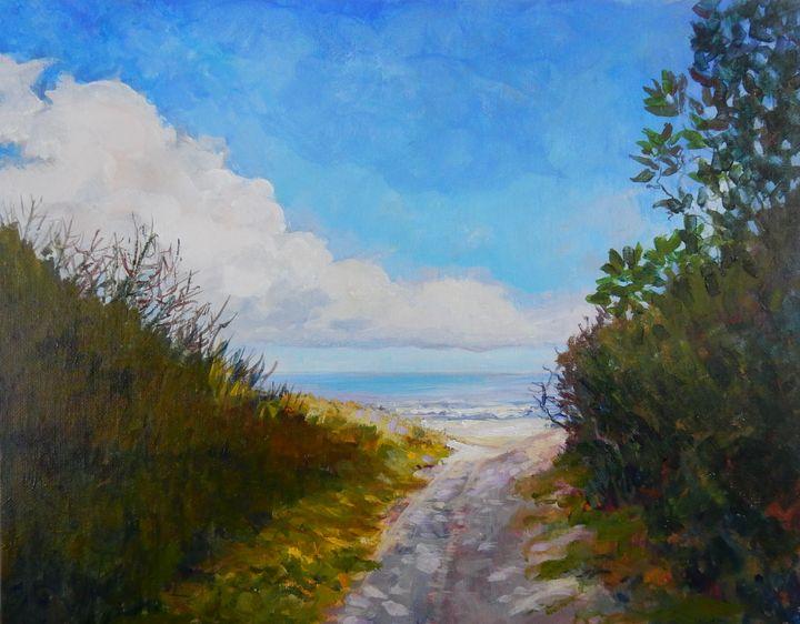 Pathway to the Beach - Joy Parks Coats Art