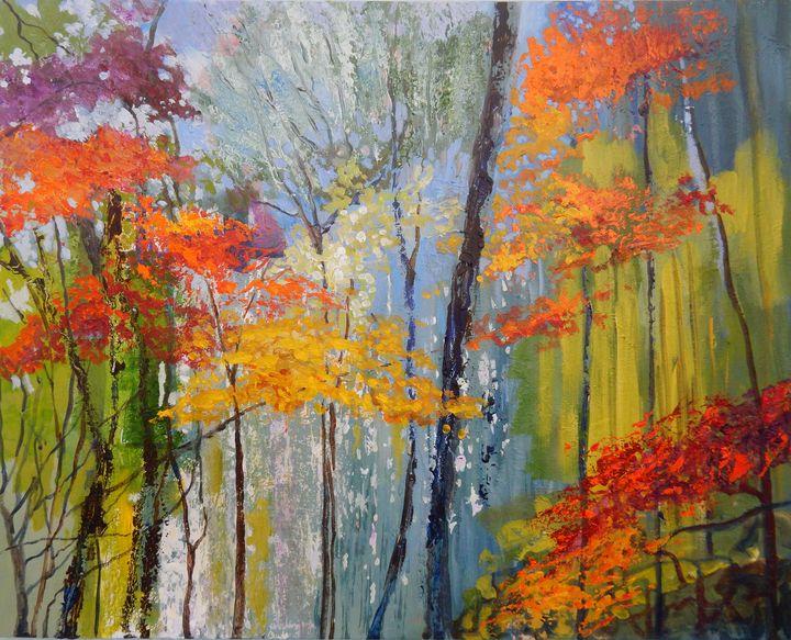Autumn Abstractions - Joy Parks Coats Art