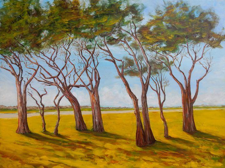 Trees at Fort Fisher - Joy Parks Coats Art