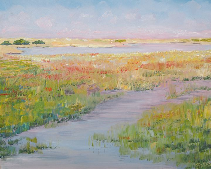 Saltmarsh at Fort Fisher - Joy Parks Coats Art