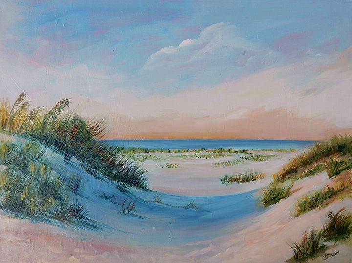 Sunrise at Sunset Beach - Joy Parks Coats Art