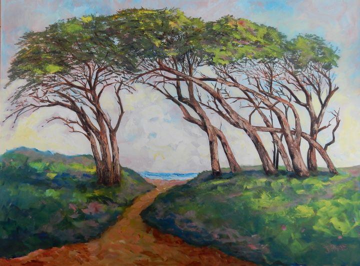 Impressions of Fort Fisher Trees - Joy Parks Coats Art