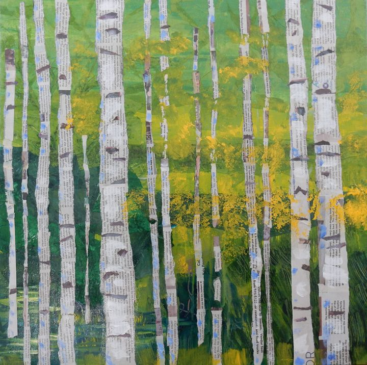 Aspens Collage - Joy Parks Coats Art