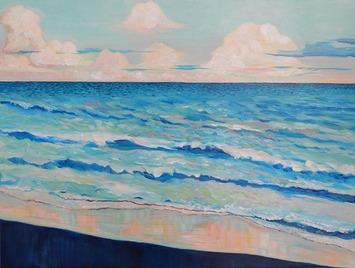 Atlantic Beach Sunset - Joy Parks Coats Art