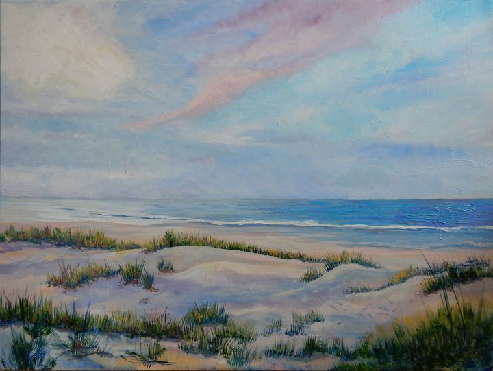 Beach at Figure Eight Island - Joy Parks Coats Art