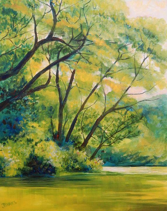New River Afternoon - Joy Parks Coats Art