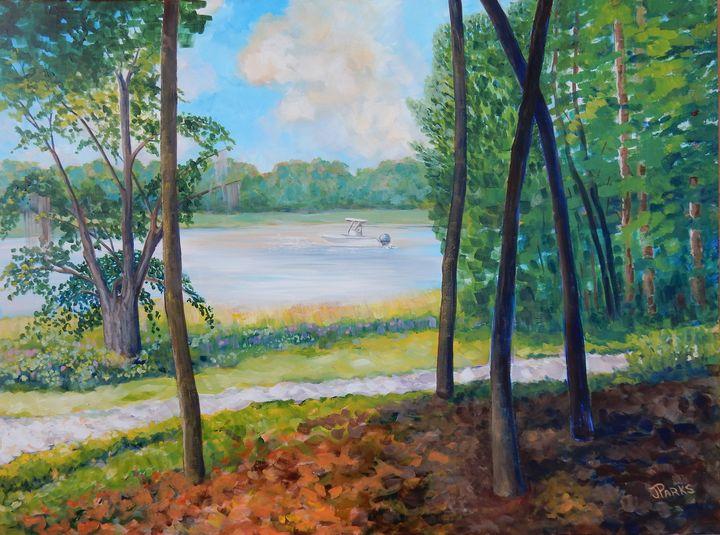 Along Bradley Creek - Joy Parks Coats Art