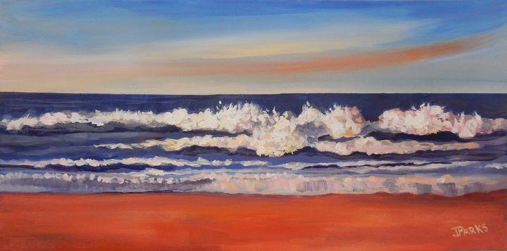 Pounding Surf - Joy Parks Coats Art