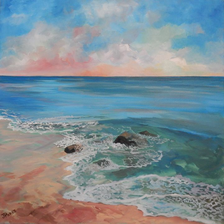 Rocky Shore - Joy Parks Coats Art