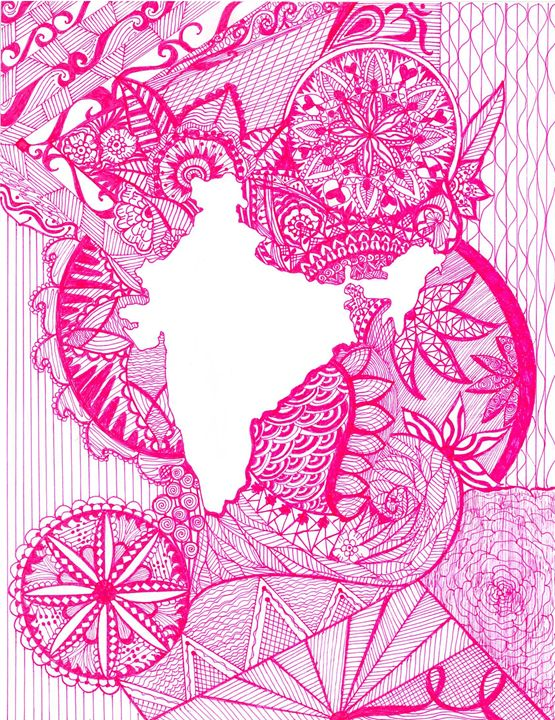 Map of India - Damini