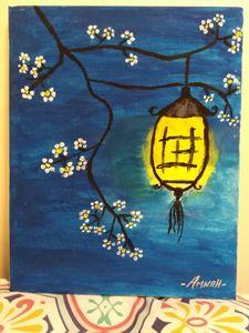 Chinese lamp painting