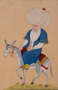 Mullah Nasruddin and his donkey