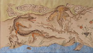 Simorgh and Dragon