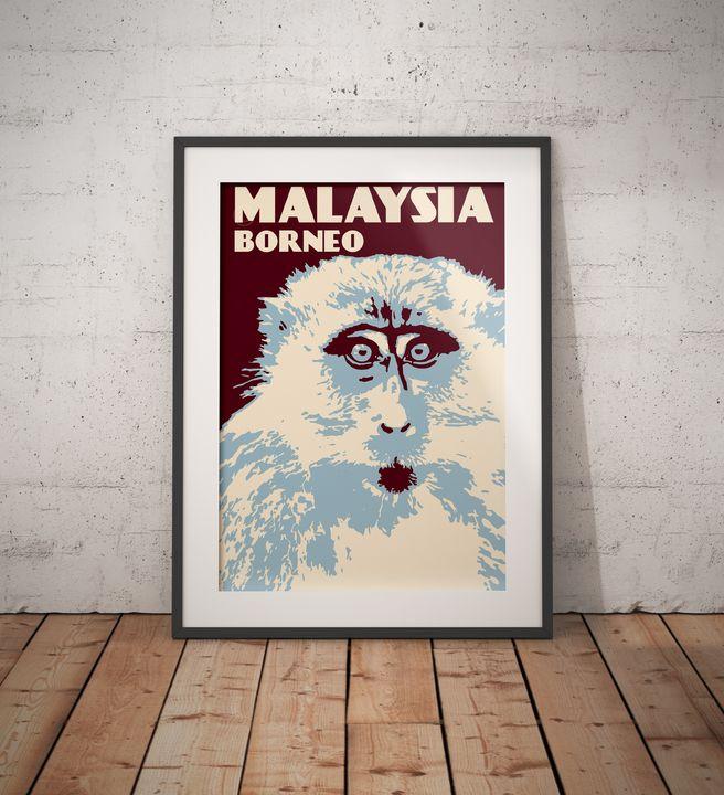 Malaysia - Borneo - Vintage Poster TM