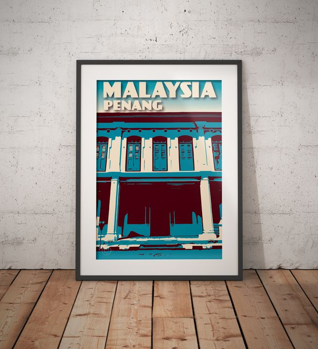 Malaysia - Penang - George Town - Vintage Poster TM