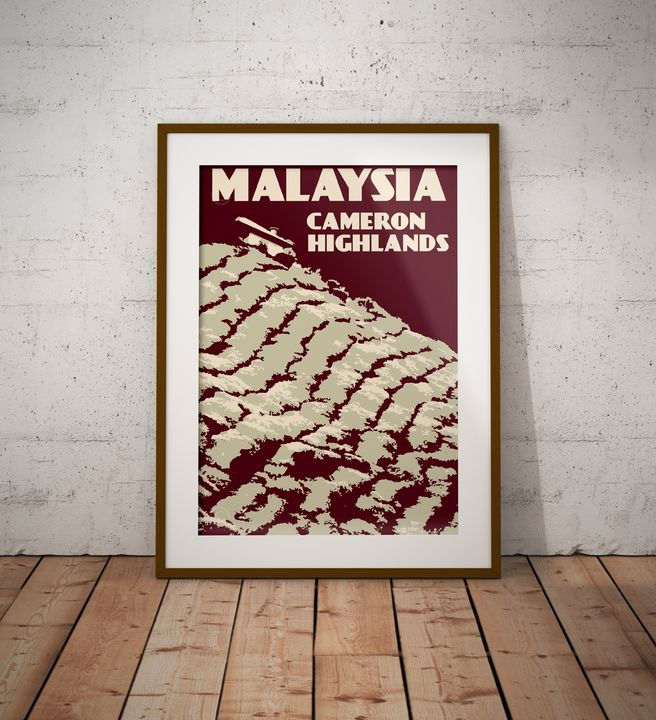 Malaysia - Cameron Highlands - Vintage Poster TM