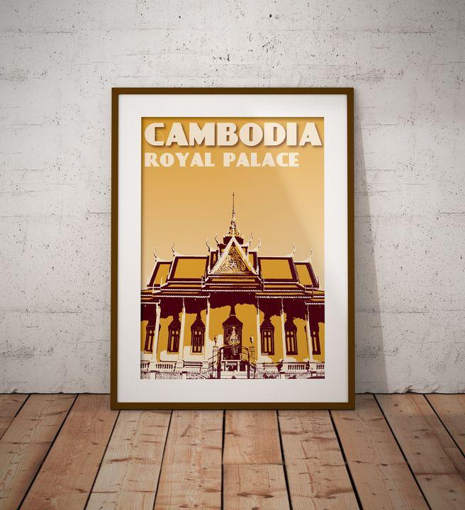 Cambodia - Royal Palace - Vintage Poster TM