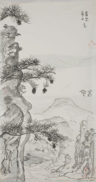 Life Shrine River - The Greenleaf Gallery llc
