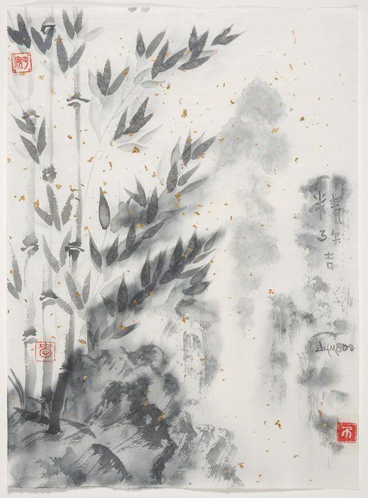 """""""Gold Rain"""" Bamboo Fallls - The Greenleaf Gallery llc"""