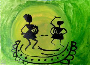 Green Warli Art.