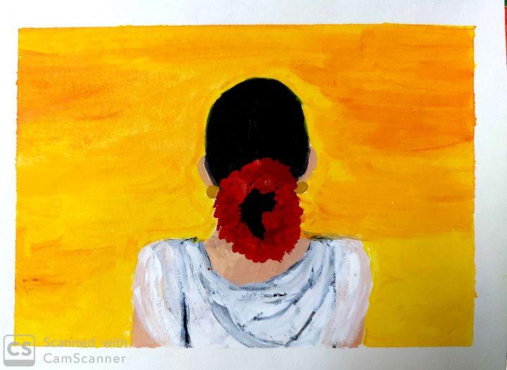 Flower Lady - Artist_Shubhangi