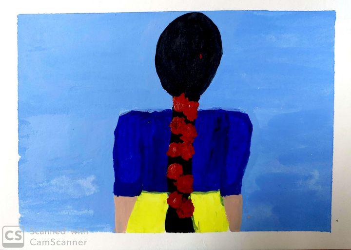 Flower Lady. - Artist_Shubhangi