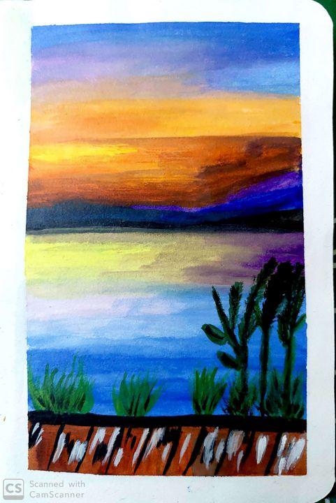 Sunset Dew. - Artist_Shubhangi