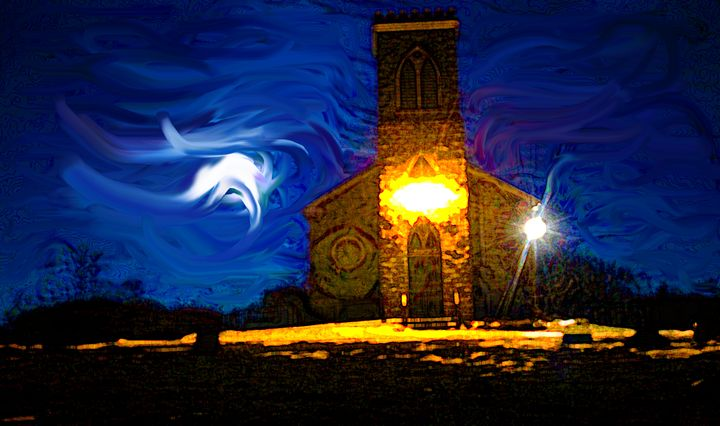 the Church - Fine Art By Jamie