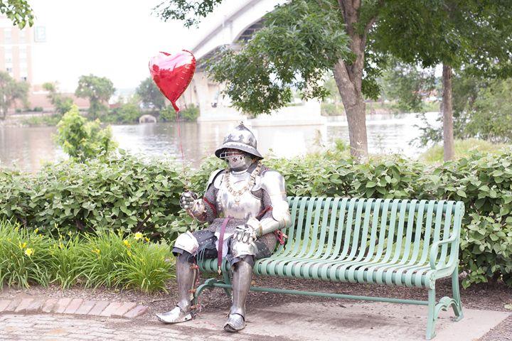Sitting on a park bench - Fine Art By Jamie