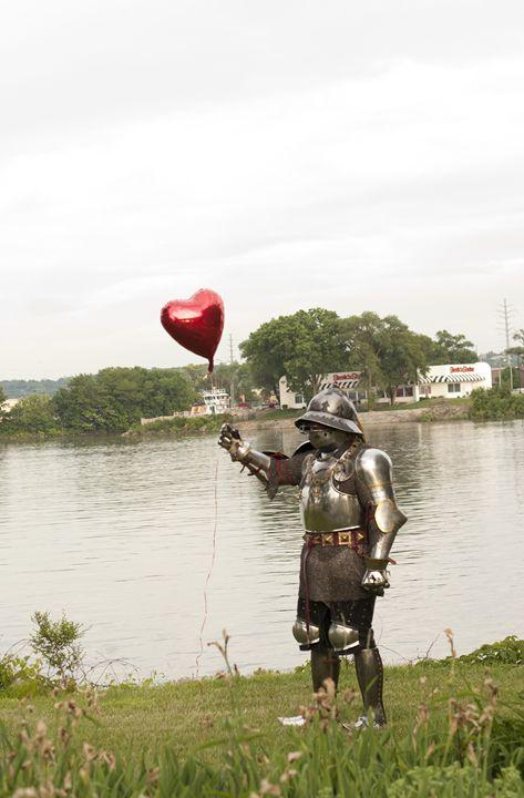 Sir Robert Roach with his balloon - Fine Art By Jamie