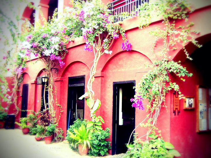 Courtyard at Goree Institute - Chandra Lynn PhotoArt