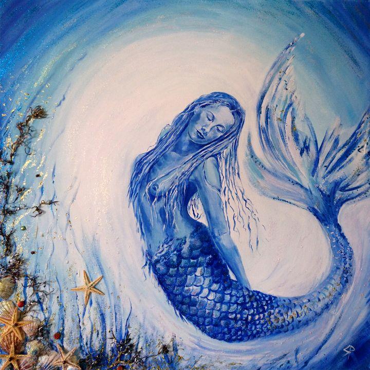 Blue Moon Mermaid - Spiritinart