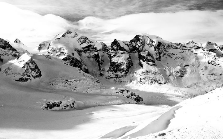 Piz Bernina and Morteratsch Glacier - GR Photography