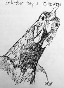 Inktober Day 5: Chicken
