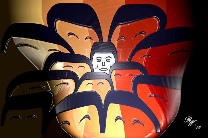 Face In A Crowd - Billy Wayne Art