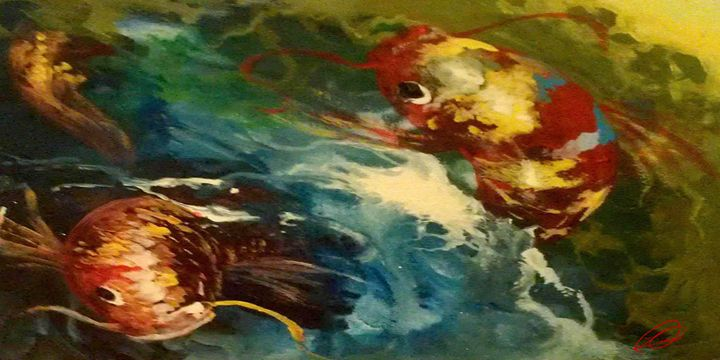 Koi Swirl - DionysusGallery.com