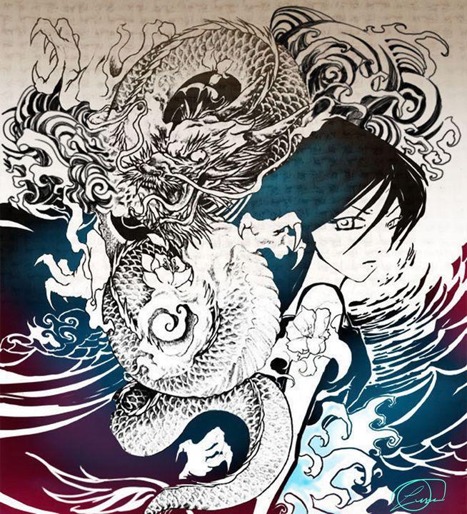 Dragon Girl Waves - DionysusGallery.com