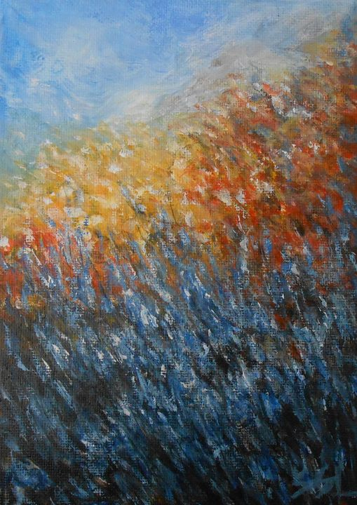 Blue Flowers - Jane See