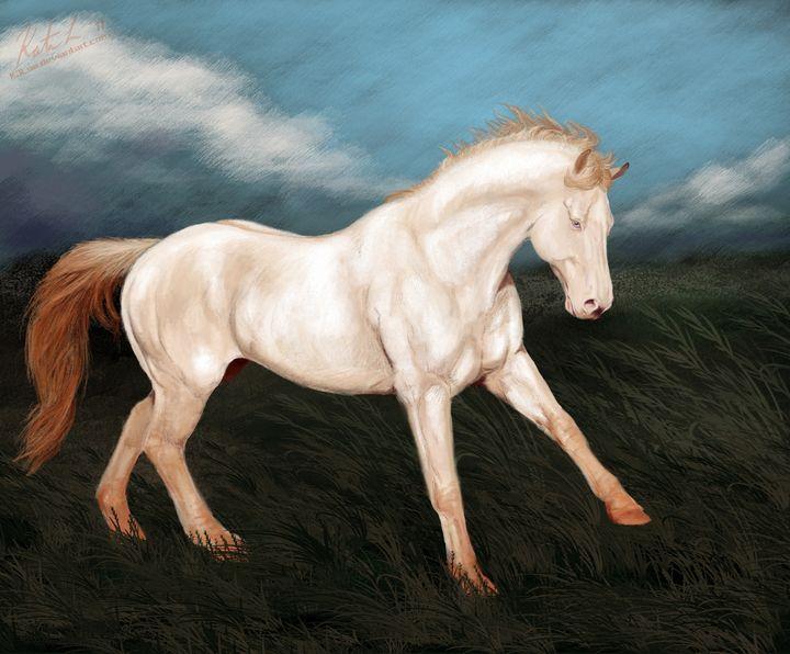 Perlino Quarter Horse Stallion - KJL Art