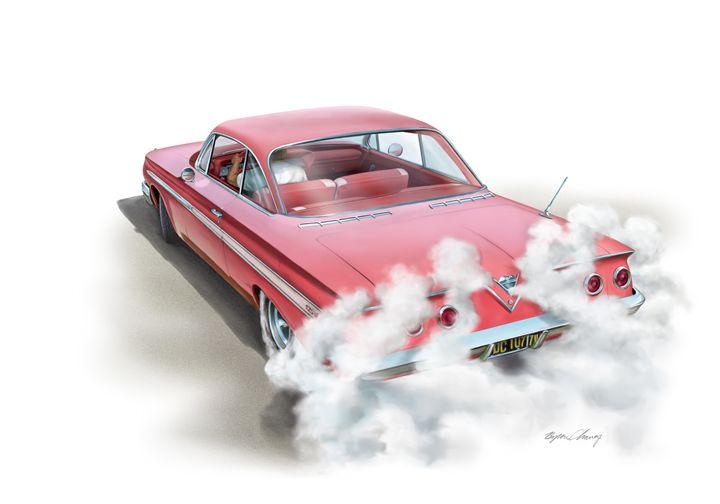 Chevy Burnout - Byron Chaney's Illustration and Design