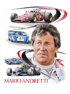 Mario Andretti portrait - Byron Chaney's Illustration and Design