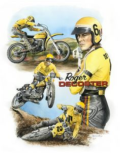 Roger DeCoster portrait - Byron Chaney's Illustration and Design