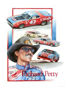 Richard Petty Portrait - Byron Chaney's Illustration and Design