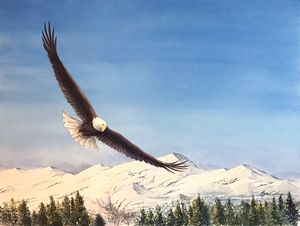 Soaring Eagle - Byron Chaney's Illustration and Design