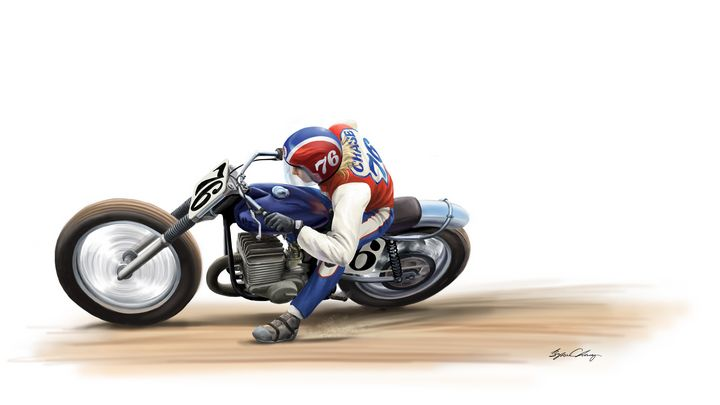 Spirit of 76 Flat Track - Byron Chaney's Illustration and Design