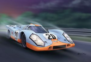 Porsche 917 Le Mans - Byron Chaney's Illustration and Design
